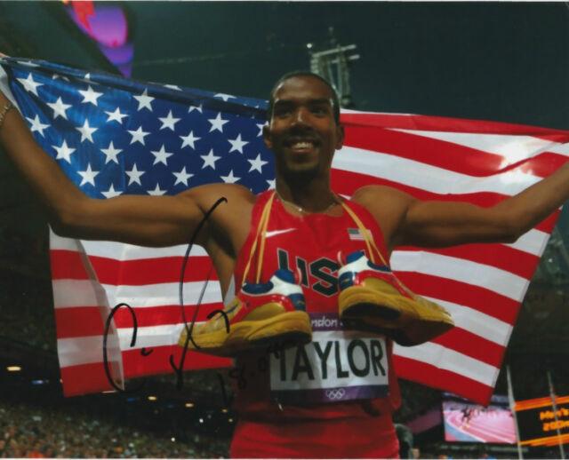 Christian Taylor USA Long Jump Autographed Signed 8x10 Photo COA