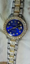 Rolex Datejust Mens Two-Tone 36mm Watch 14 Carat Diamonds Hip Hop Bling ASAAR