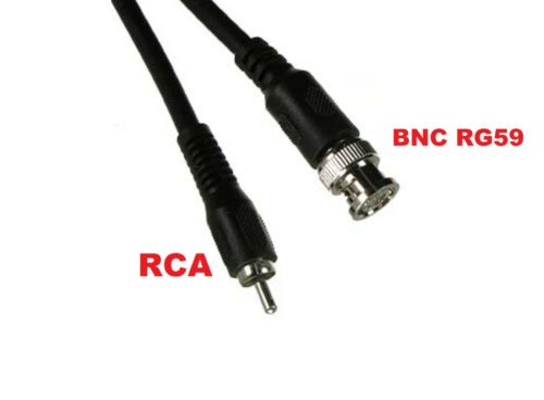 New Superb Quality 9FT BNC Male to RCA Male RG59U 75ohm Coaxial Cable Connector