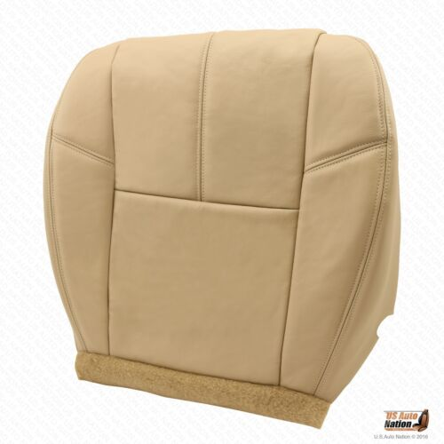 2007 to 2014 GMC Sierra 1500 Driver Bottom Replacement Leather Seat Cover Tan