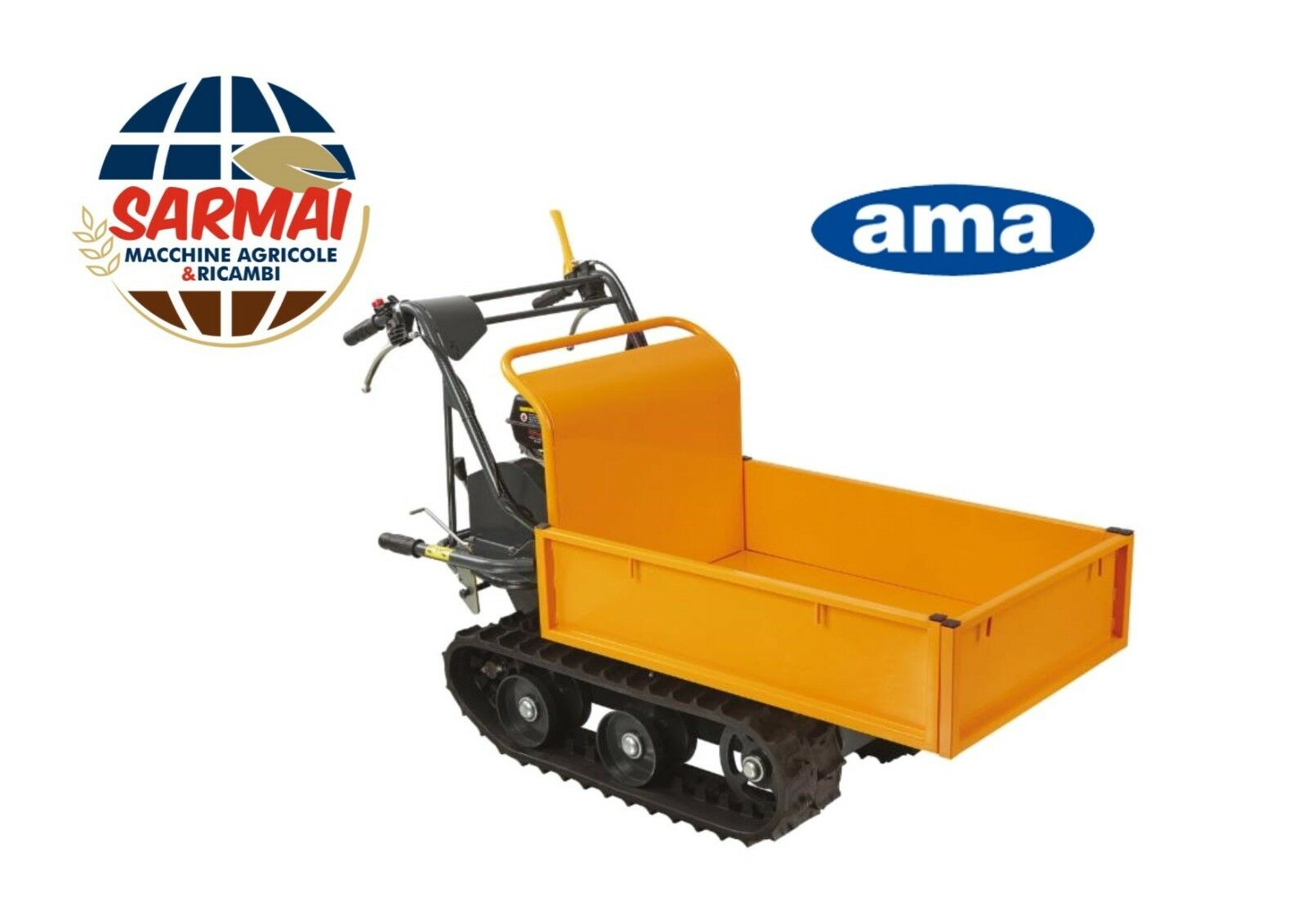 Motocarriola cingolata AMA portata 300kg cassone estendibile estendibile estendibile carriola 28d158