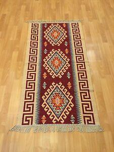 Orientteppich Teppich Kelim fleckerlteppic<wbr/>h Handgewebt 150x80 Tapis Tappeto Rug