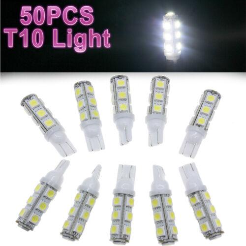 50x 6000K White LED Light Bulb T10 912 916 921Light Bulbs 12V For RV Camper NEW