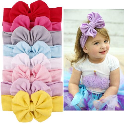 2019 Cute Baby Girls Toddler New Big Headband Headwear Hair Bow Accessories Yc