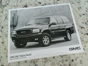 1998 gmc yukon denali suv truck press kit photo frm brochure ebay ebay