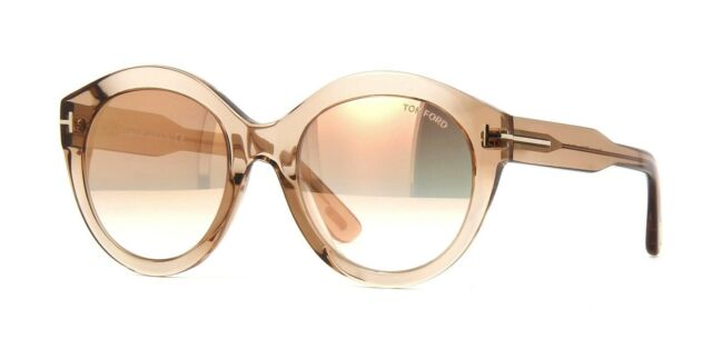 2113a6323be2 Tom Ford ROSANNA FT 0661 Light Brown Brown Shaded Mirror (45G B) Sunglasses