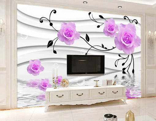 3D Fancy Pattern Water Lake Paper Wall Print Wall Decal Wall Deco Indoor Murals