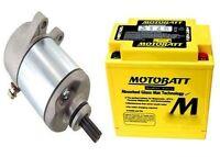 Starter Battery Kit For Honda Rancher Trx350fe 4x4 Es 329cc Engine 2000-2006