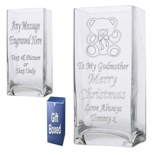Vase 22cm Rectangle Personnalisé Mère de Dieu GODPARENT cadeau de Noël