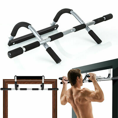 US Doorway Pull Up Bar Chin Up Sit-Up Strength Body Workout Exercise Fitness Gym