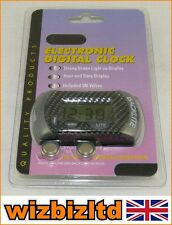 MPOL It Motorbike Digital LCD Clock - in Carbon Finish LCDCLOCK-CBN