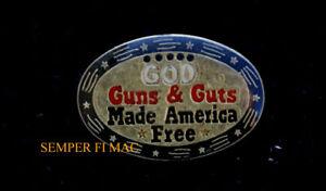 GOD-GUTS-AND-GUNS-MADE-AMERICA-FREE-US-HAT-LAPEL-VEST-PIN-UP-2nd-Amendment-GIFT