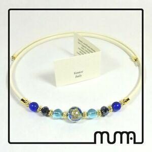 Collana-da-donna-con-elementi-in-vetro-di-Murano-e-cristalli-Bigiotteria-ragazza
