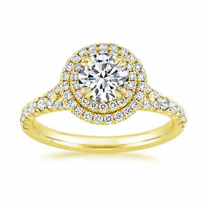 Solid-BIS-14K-Yellow-Gold-Solitaire-1-40Ct-Diamond-Engagement-Ring-Size-N-34
