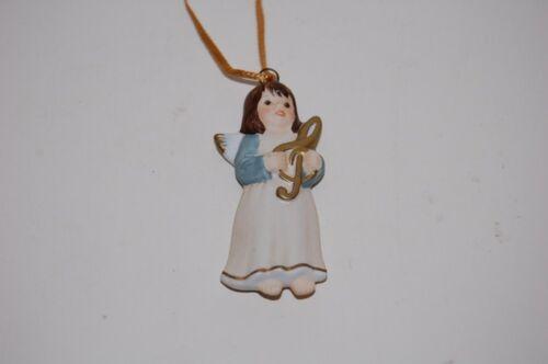 Ange bleu avec notes porte clé sapin de Noël Noël Goebel NEUF
