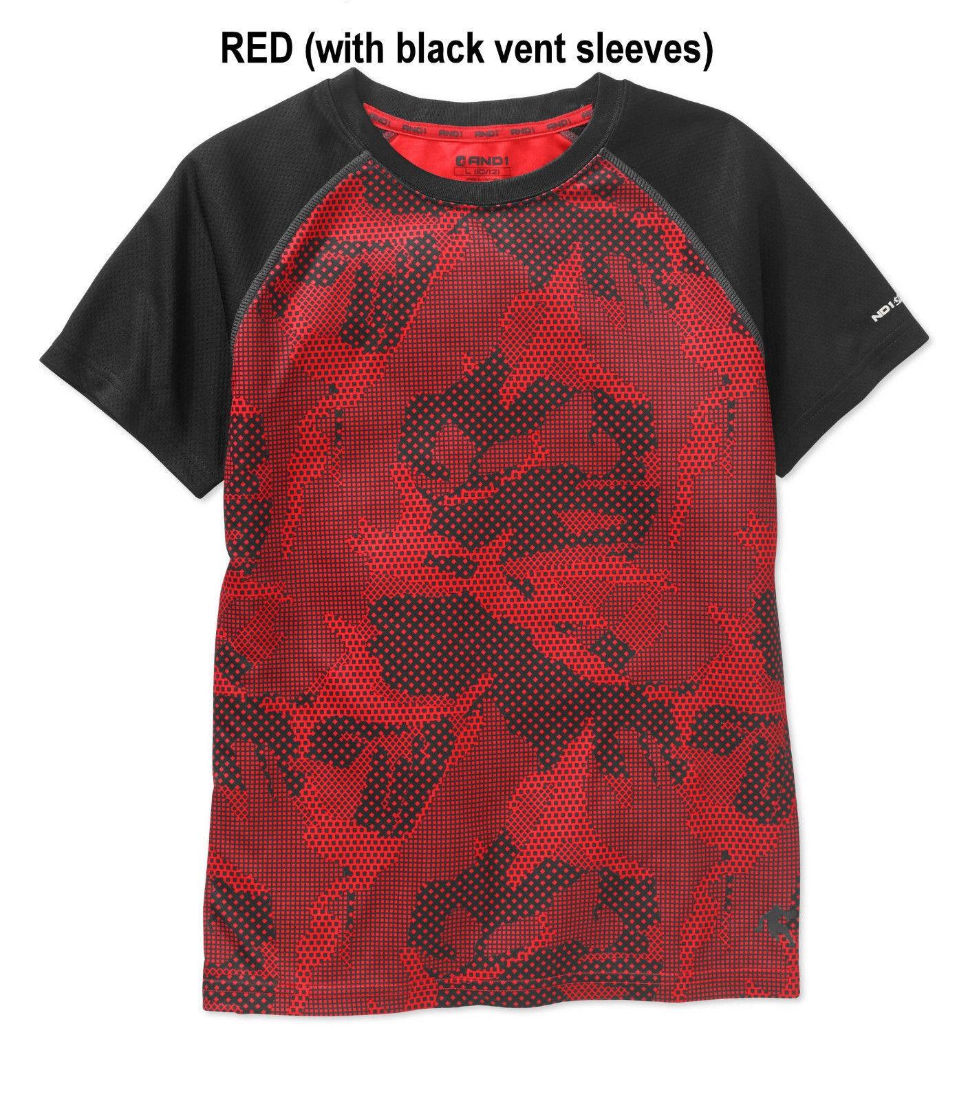 NWT Active Boys Moisture Wicking Sports Running Workout T Shirt 8-10 12-14 16-18