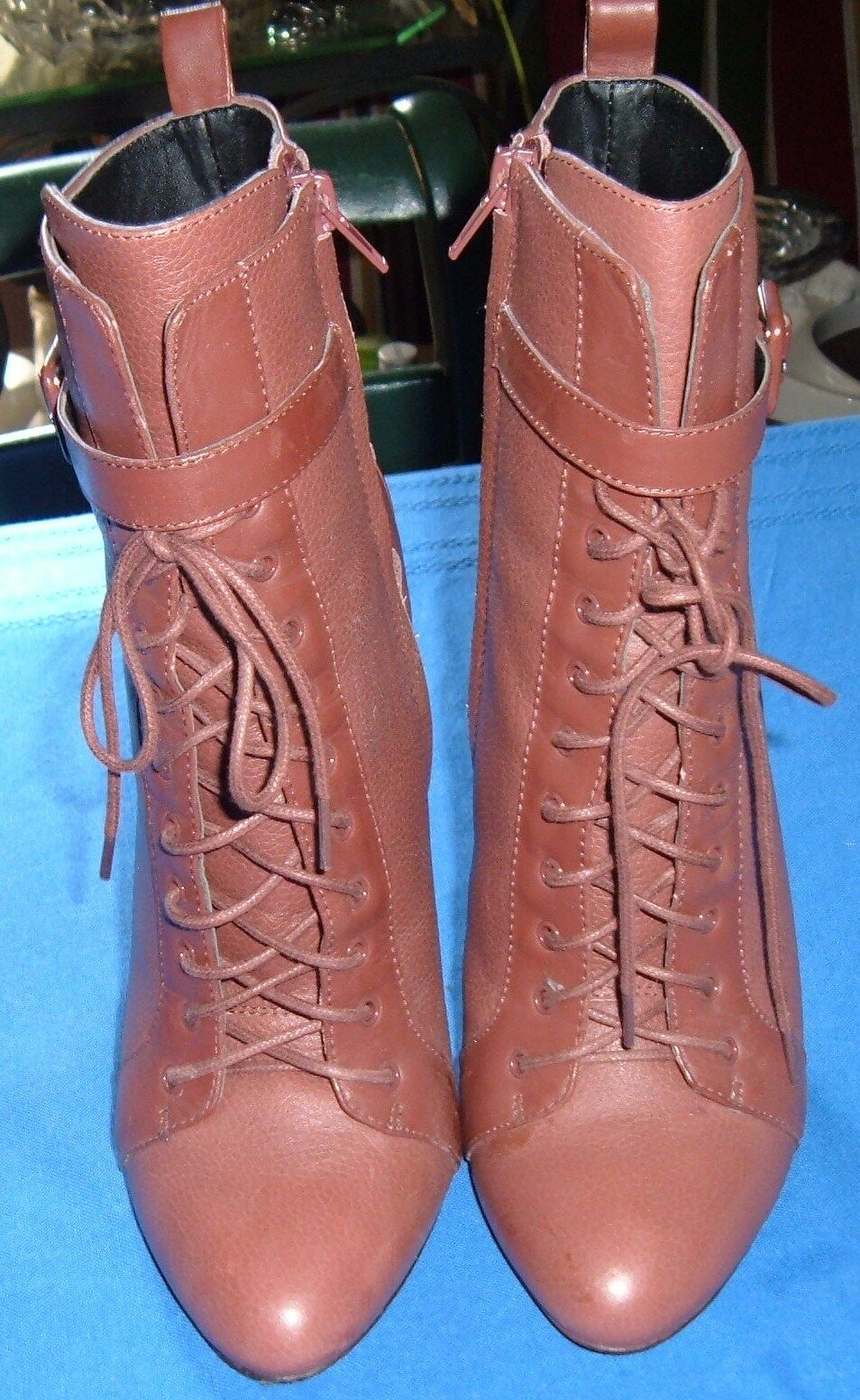MAGNIFIQUE BOTTINES CHARLES DAVID 37 37 37 CUIR marrón  venta de ofertas
