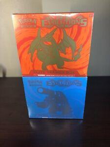 SEALED Pokemon XY Evolutions Elite Trainer Box ETB Charizard Blastoise Lot of 2