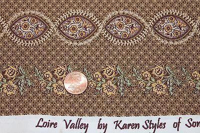 Loire Valley Karen Styles Marcus Brothers BTY Civil War Gold Brown