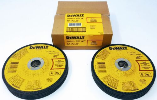 "DEWALT DWA4513 6/"" X 1//8/"" X 7//8/"" Metal Cutting//Grinding Wheels Box of 10"