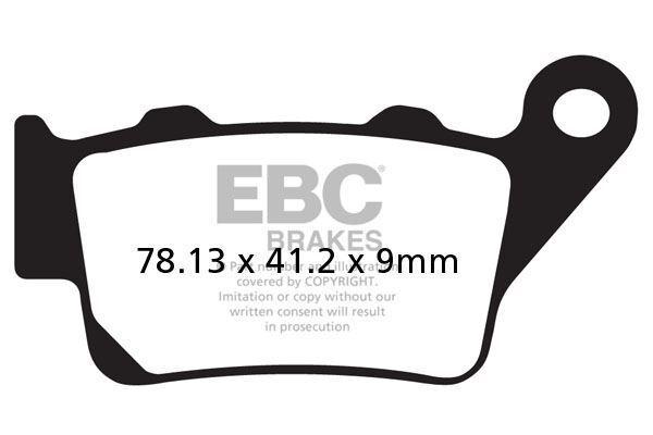 Para KTM LC4-E 640 Supermoto ( 2 Pines Soporte) 04>06 EBC Traseras