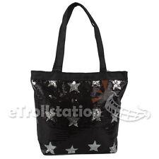 1de58163f3 Girls Kids Youth Shine Sequin Stars Shoulder Dance Gymnastics Cheer Tote Bag