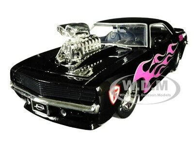 JADA 30707 1969 CHEVROLET CAMARO BLOWER ENGINE 1//24 BLACK with PINK FLAMES