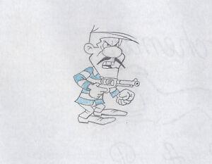Lucky-Luke-Joe-Dalton-KEY-original-production-cel-Drawing-Hanna-Barbera-1983-D7