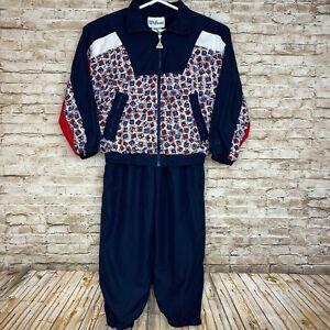 Wilson-Vintage-Track-Suit-Warm-Up-Jogging-Blue-Red-Jacket-Pants-Women-039-s-Size-M
