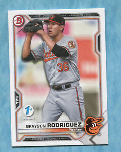2021 Bowman 1st Edition BFE-118 Grayson Rodriguez - Baltimore Orioles