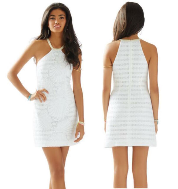 d148dec3abe514 Lilly Pulitzer JENNA HALTER SHIFT DRESS Resort White Engineered Shell  Stripe 6