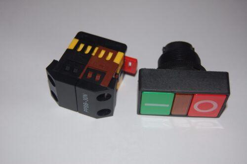 30MM Doble Cabeza en Off Interruptor Verde Rojo Con Pulsador con luz LED 220V AC