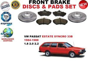 para-VW-PASSAT-33b-Syncro-Familiar-84-88-Discos-freno-Delantero-Set
