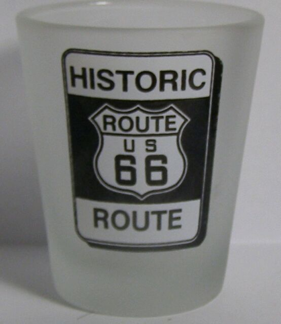 Historic Route 66 Road Sign Shot Glass #4360