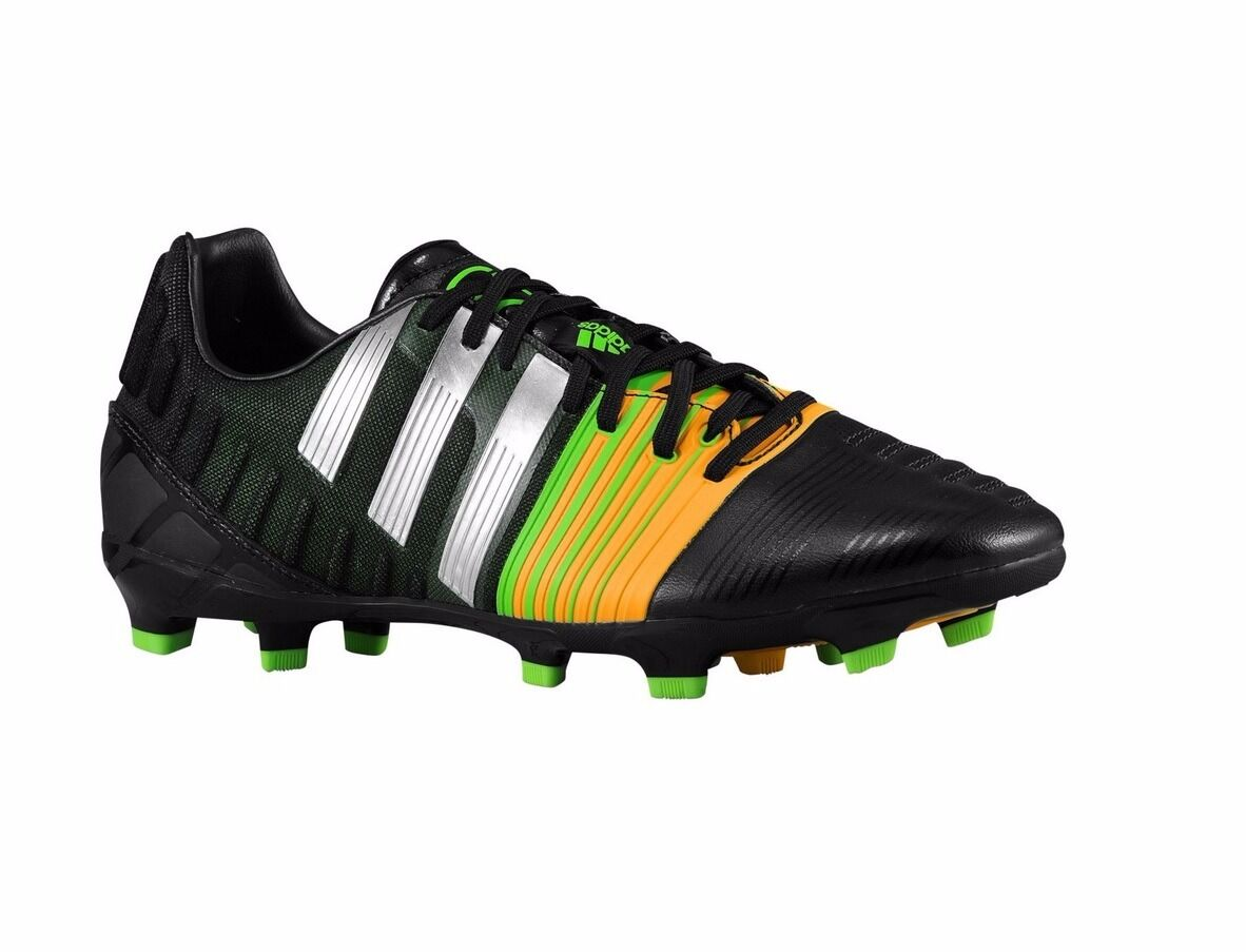 Adidas nitrocharge 2.0 Firm Ground Football Soccer Boot Size 8 shoes Black New