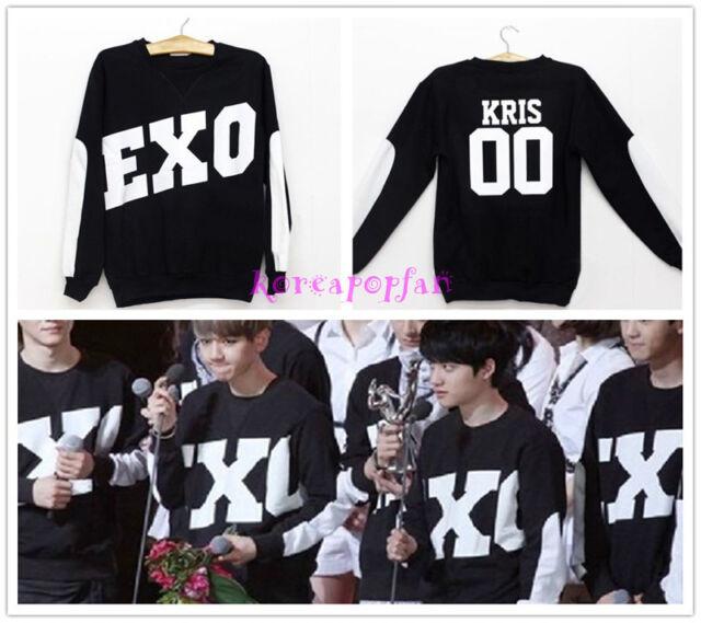 EXO Miracles in December XIUMIN LUHAN SEHUN CHANYEOL BLACK SWEATER KPOP EXODUS