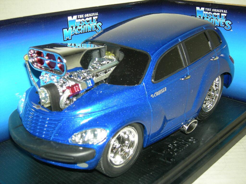 2000 P T Cruiser Azul Oscuro máquina muscular en en en caja como nuevo escala 1 18 f41aab