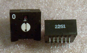 SAE-2251-Decimal-Rotary-Panel-Switch-0-9-Positions-NEW