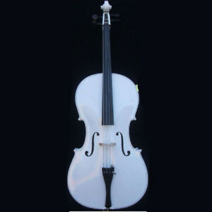 Rosin #16799 Bow White 4/4 Acoustic Cello With Bag