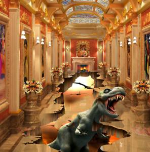 3D Dinosaurio Piso impresión de parojo de papel pintado mural 53 5D AJ Wallpaper Reino Unido Limón
