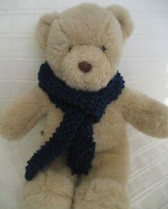 Teddy-Bear-Clothes-Handmade-Navy-Knitted-Scarf