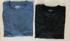 2 PACK LOT XXL MOISTURE WICKING Stretch Glacier Performance tee-shirts blue gray