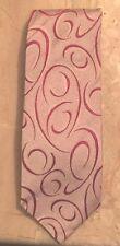 Verri Uomo Metallic Swirls Tie Made In Italy Classic Vintage Necktie
