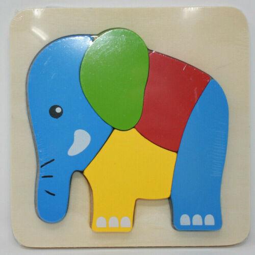 Eule aus Holz Holzpuzzle ab 1 Jahr TÜV gepr. Igel Einlegepuzzle Elefant Zug