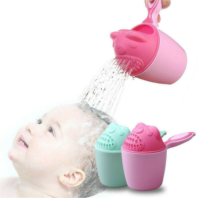Baby Bath Cup Water Shower Pouring Toys Shampoo Rinse Kids Hair Wash Cup 6A