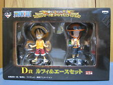 One Piece / Marine Ford Battle Figure Luffy & Ace / by Banpresto