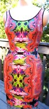 NEW WITH TAG CLOVER CANYON DRESS ORCHID FLOWER STRETCH BODYCON SIZE MEDIUM