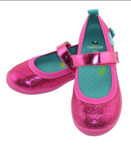 Choose Size NEW CHOOZE Sparkly Fuchsia Mary Jane Metallic Toddler Shoes $50