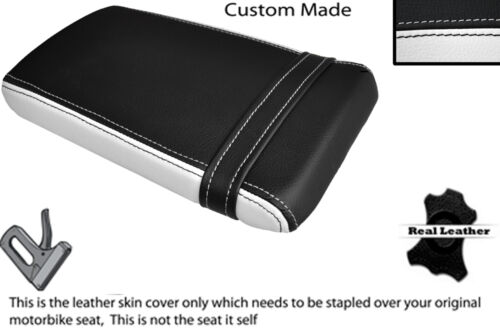 BLACK /& WHITE CUSTOM FITS HONDA VTR RVT 1000 RC51 SP1 REAR LEATHER SEAT COVER