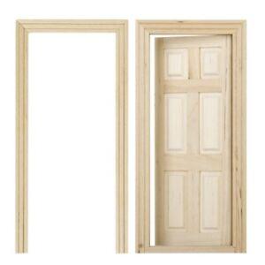Beau Details About 1/12 Dollhouse Miniature 6 Panel Interior Wooden Door DIY  Wood Color X3Z2